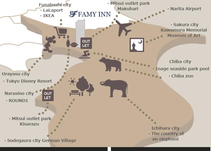 Tourist information FamyInn Makuhari